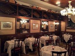 sala con tavoli ristorante Hostaria da Franz