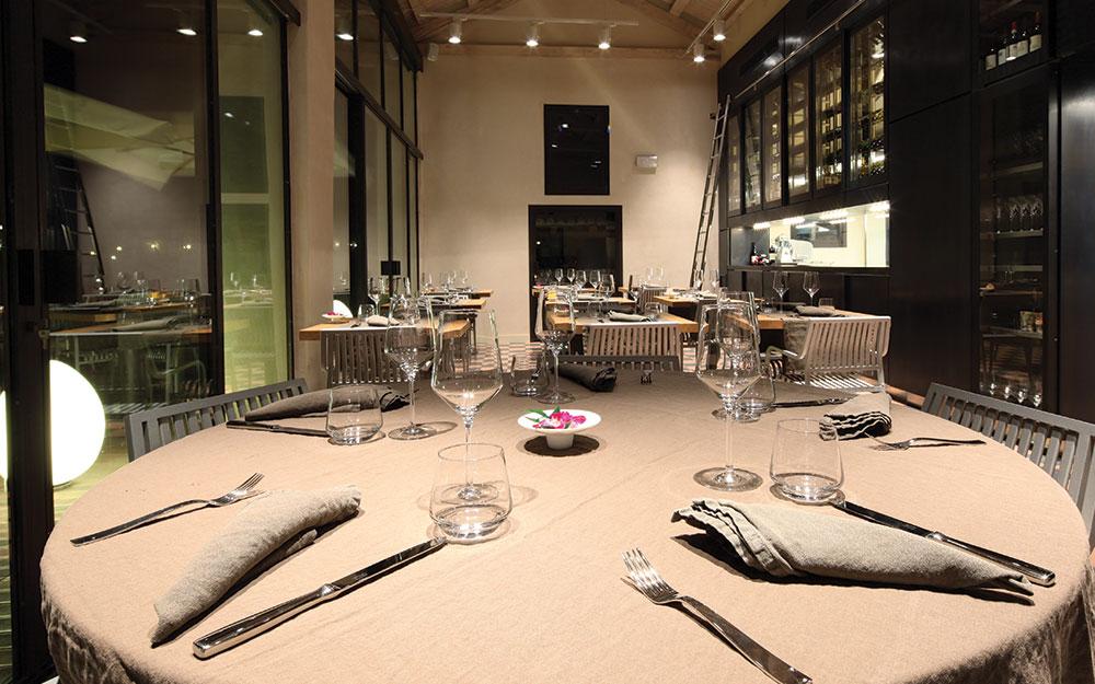 tavolo e sala ristorante Venissa venezia