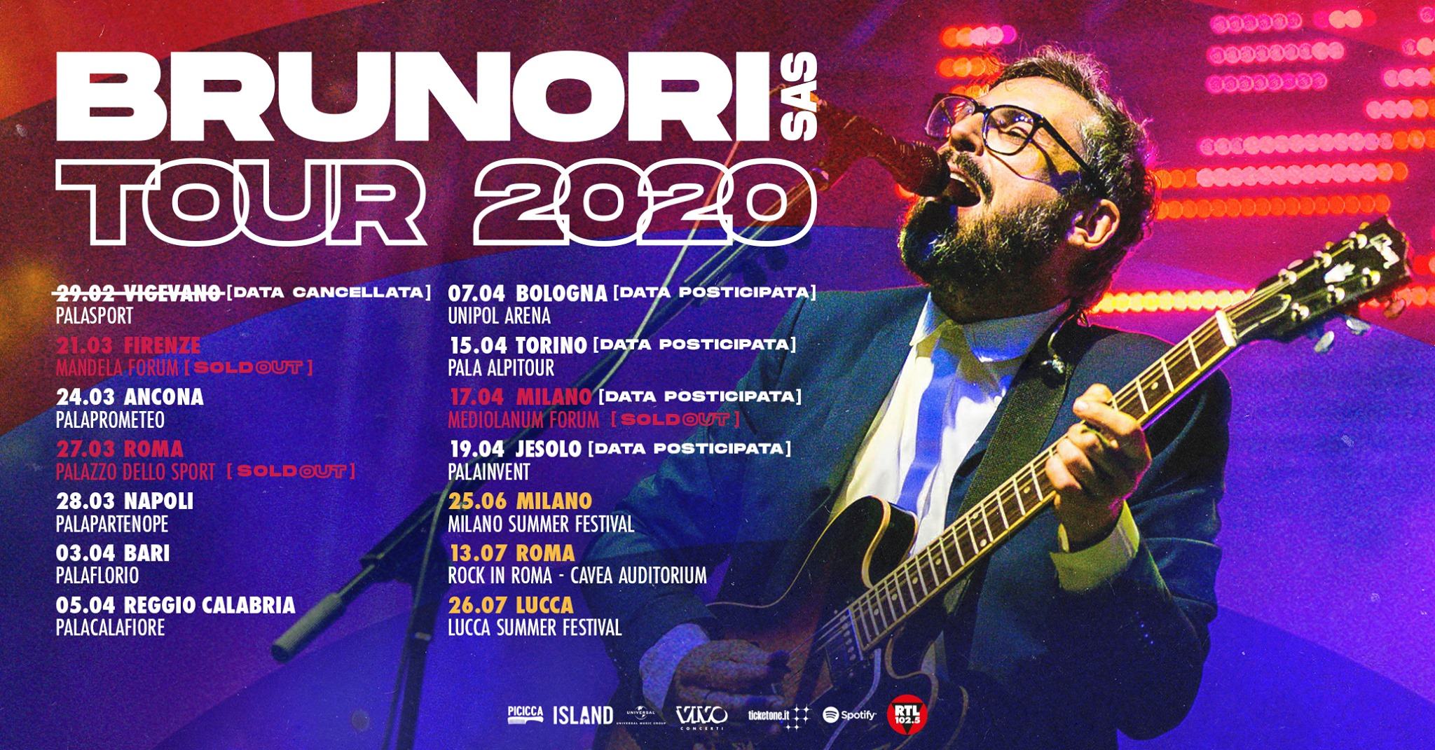Concerto di Brunori Sas del tour 2020