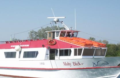 Dettaglio barca Moby Dick