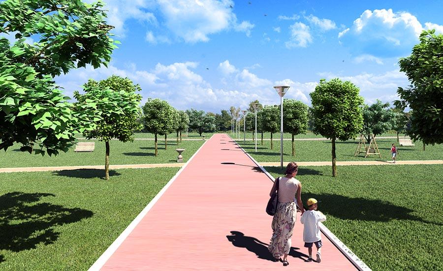 Parco Ca' Silis con giochi e zona pedonale