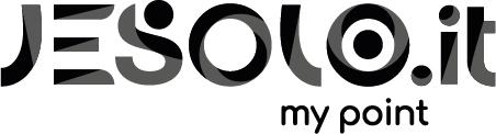 Logo Jesolo nero con tratto positivo